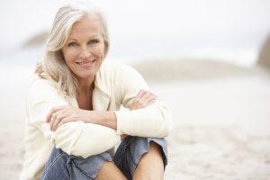 senior woman dental implants